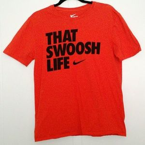 Nike - That Swoosh Life Orange Short Sleeve Shirt